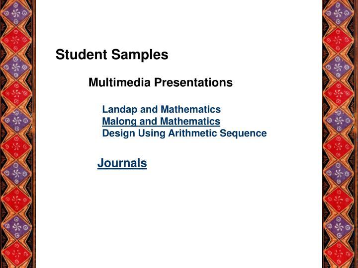 Student Samples