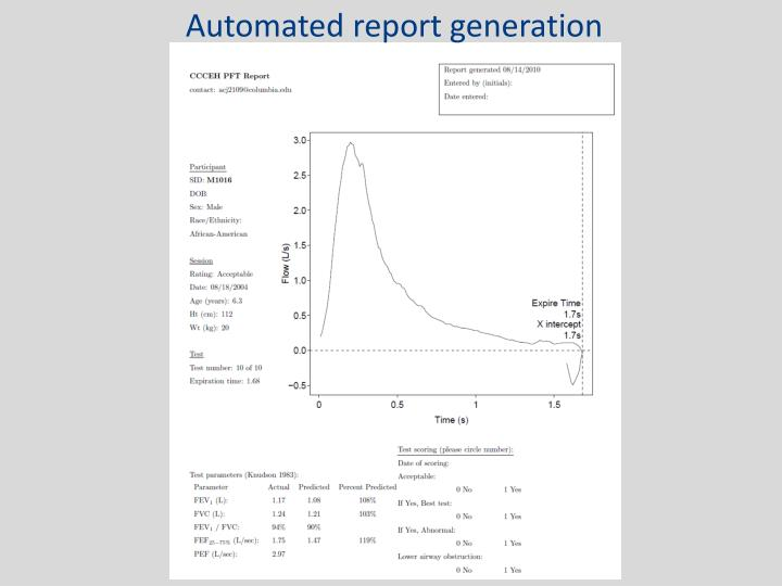 Automated report generation