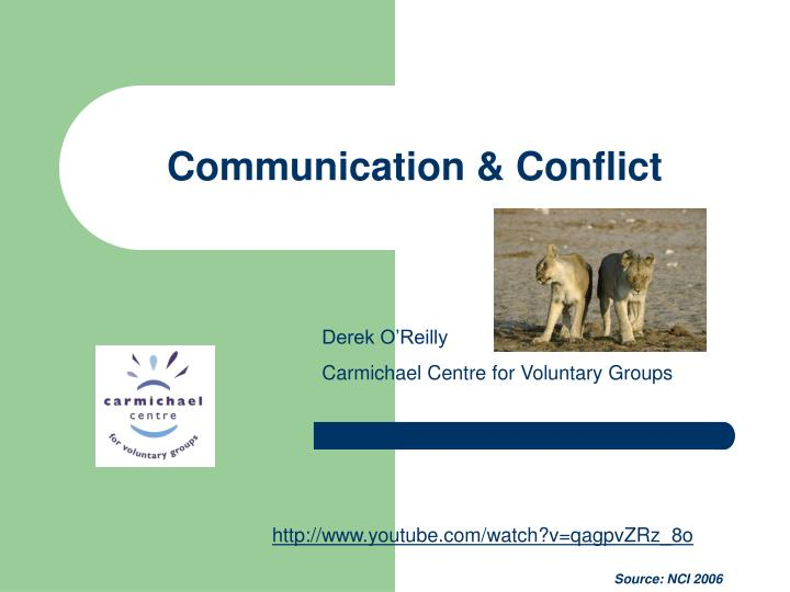 communication conflict n.