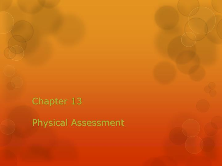 chapter 13 physical assessment n.