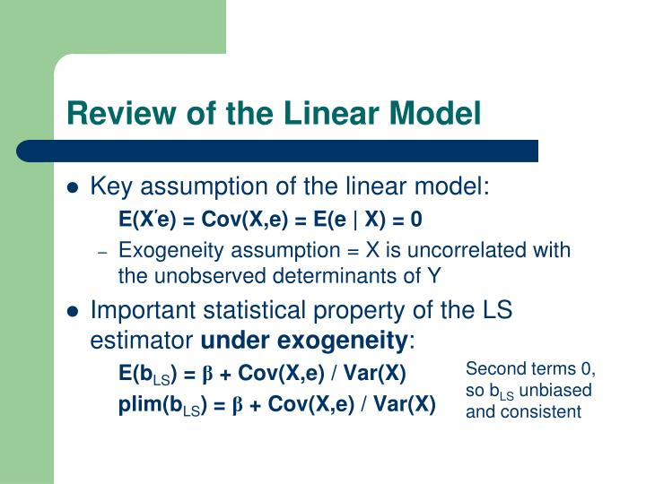 Review of the Linear Model