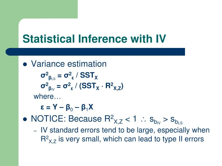 Statistical Inference with IV