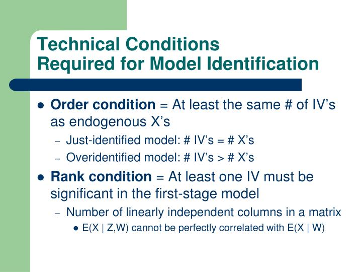 Technical Conditions