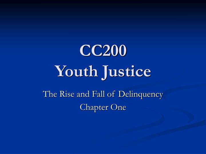 cc200 youth justice n.