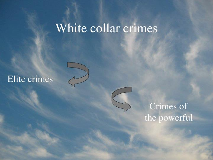 white collar crimes n.
