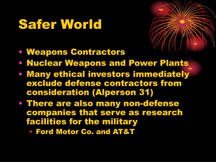 Safer World