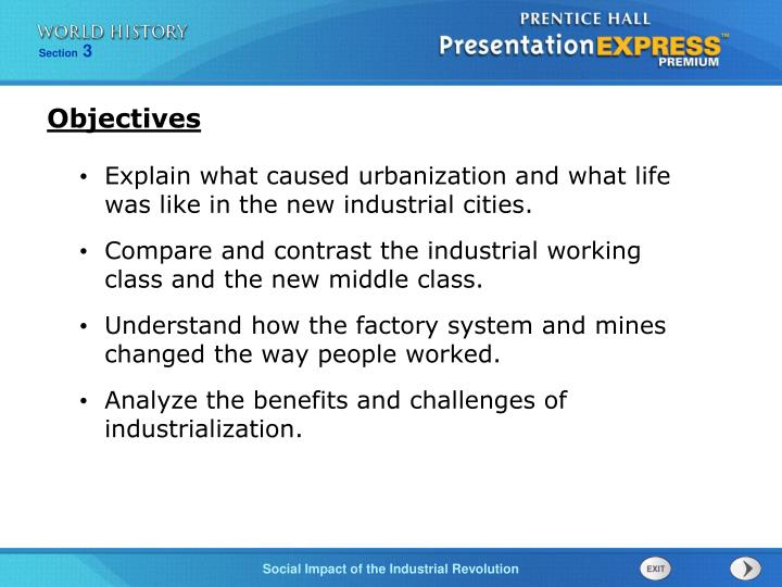 compare and contrast the effects of the industrial revolution in two of the following regions The industrial revolution came gradually it happened in a short span of time, however, when measured against the centuries people had worked this relatively sudden change in the way people live deserves to be called a revolution it differs from a political revolution in its greater effects on.