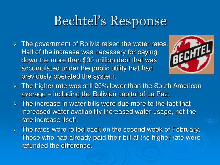 Bechtel's Response