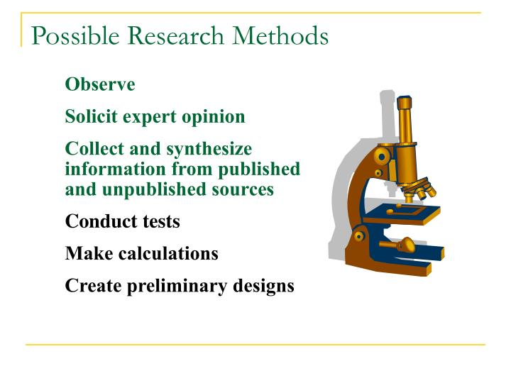 Possible research methods