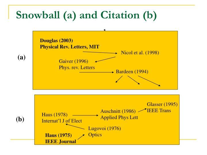 Snowball (a) and Citation (b)
