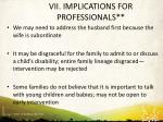 vii implications for professionals