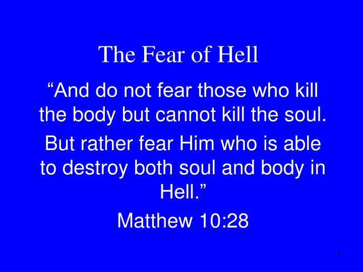the fear of hell n.