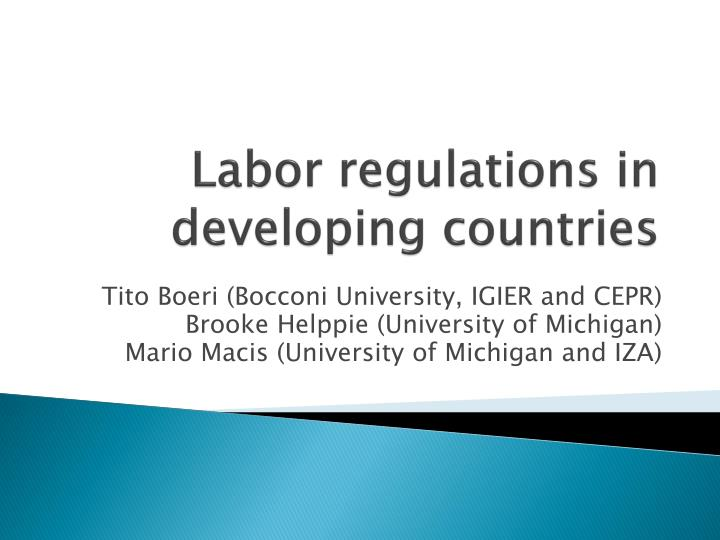 labor regulations in developing countries n.