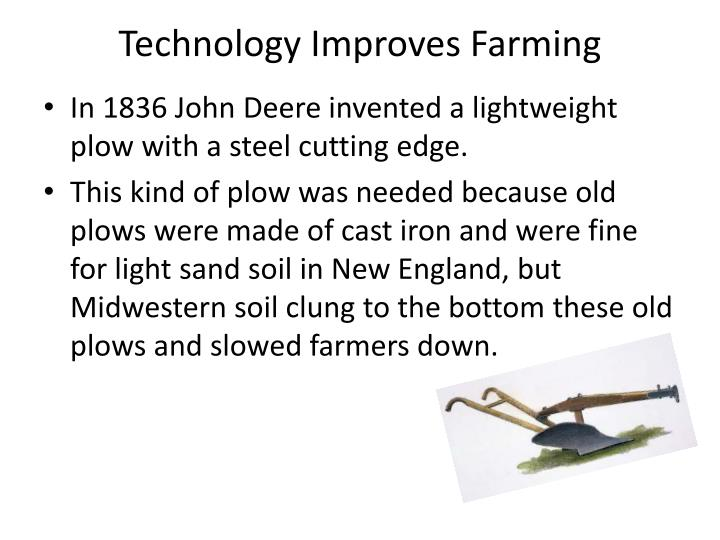 Technology Improves Farming