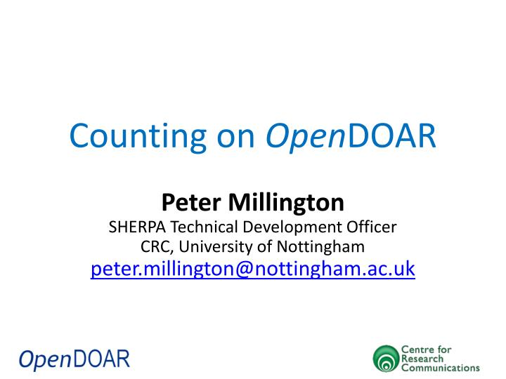 counting on open doar n.