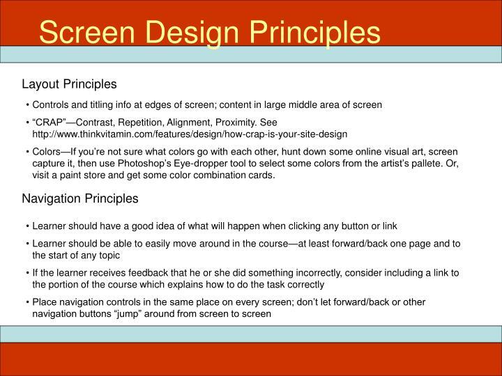 Screen Design Principles