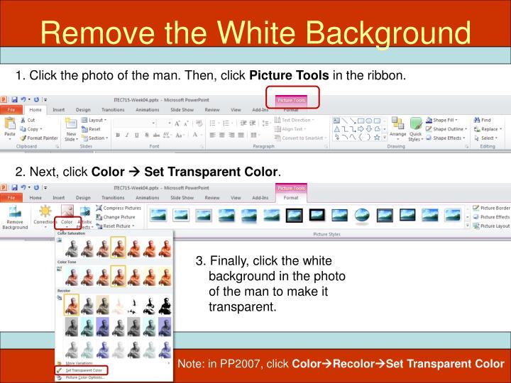 Remove the White Background