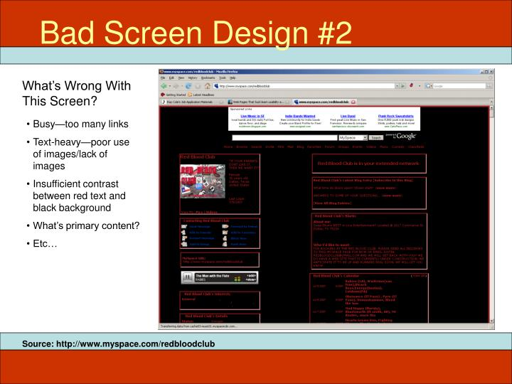 Bad Screen Design #2