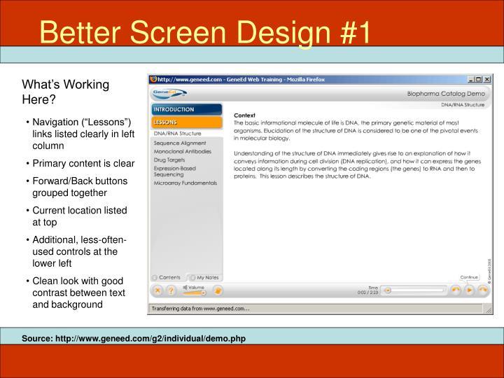 Better Screen Design #1