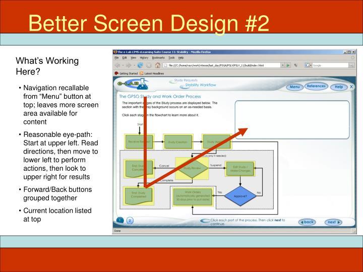 Better Screen Design #2