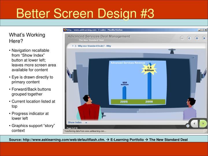 Better Screen Design #3
