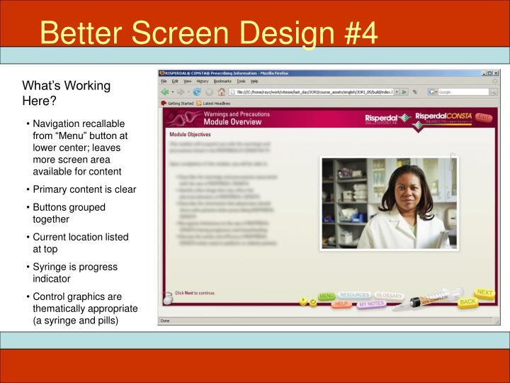 Better Screen Design #4