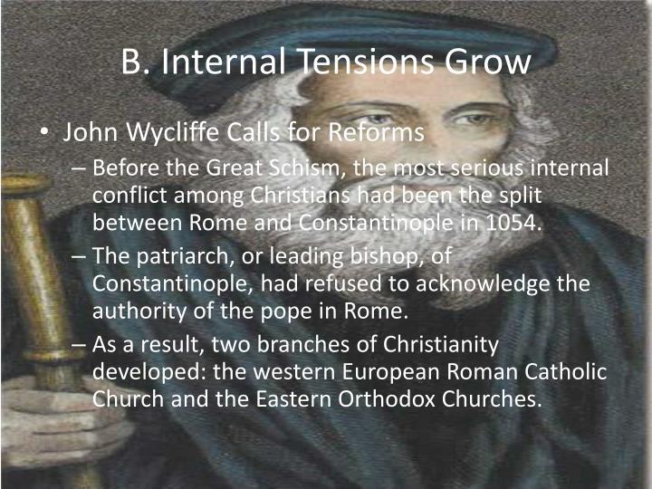 B. Internal Tensions Grow