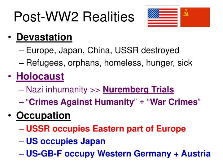 Post ww2 realities