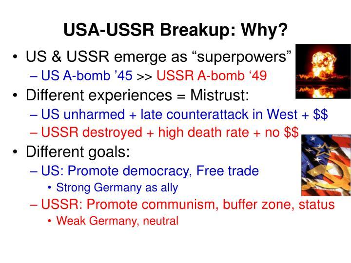 USA-USSR Breakup: Why?