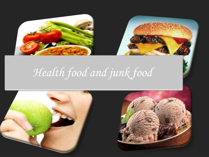 health food and junk food n.