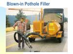blown in pothole filler
