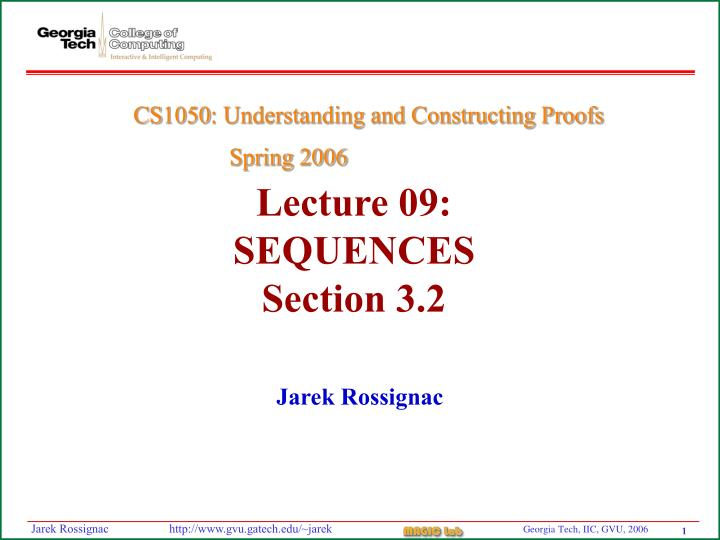 lecture 09 sequences section 3 2 n.