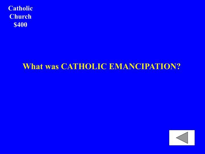 Catholic Church $400