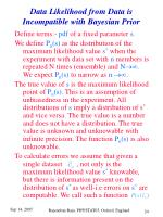data likelihood from data is incompatible with bayesian prior