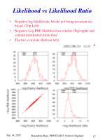likelihood vs likelihood ratio