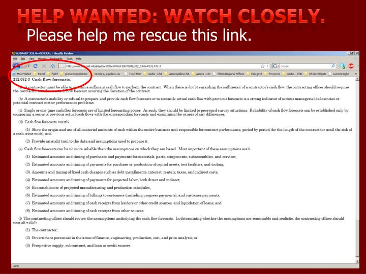 Help wanted: watch closely.