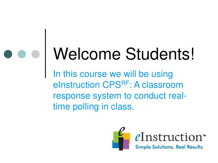 welcome students n.