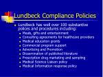 lundbeck compliance policies