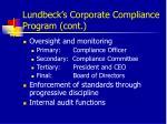 lundbeck s corporate compliance program cont