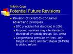 phrma code potential future revisions