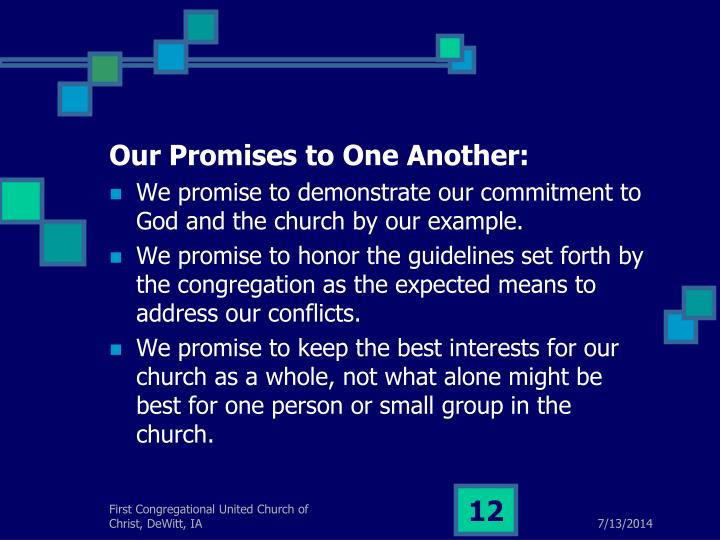 Our Promises to One Another: