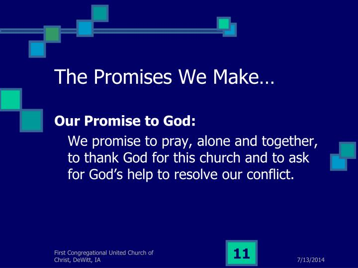 The Promises We Make…