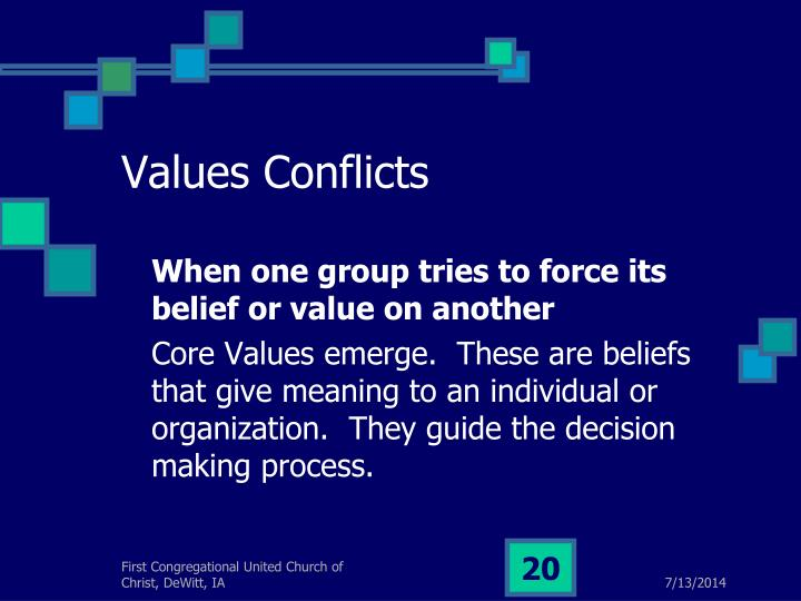 Values Conflicts