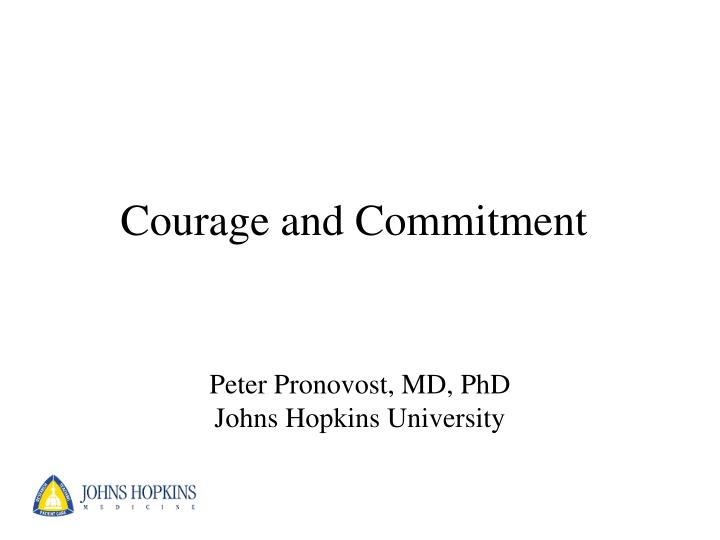 courage and commitment n.