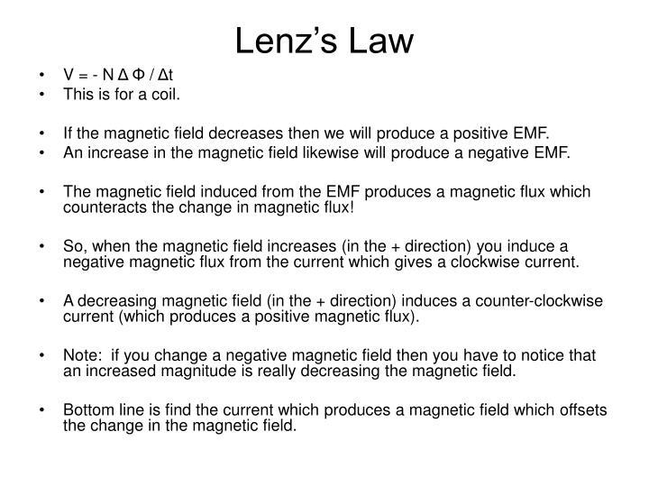 Lenz s law