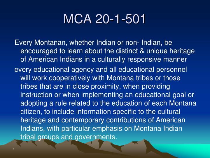 MCA 20-1-501