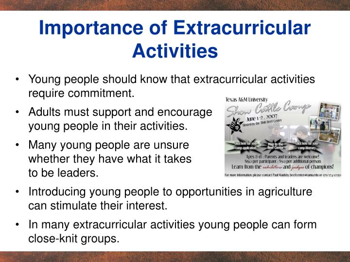 Importance of Extracurricular Activities