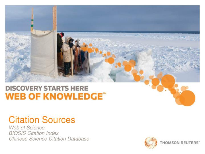 citation sources web of science biosis citation index chinese science citation database n.