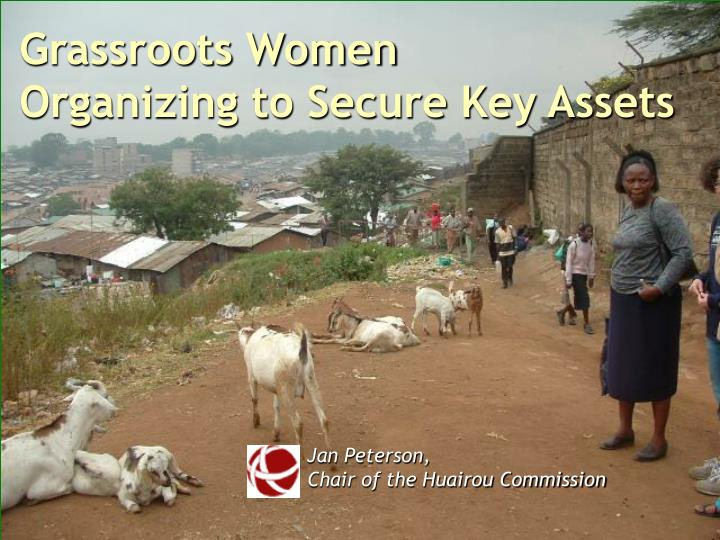 grassroots women organizing to secure key assets n.