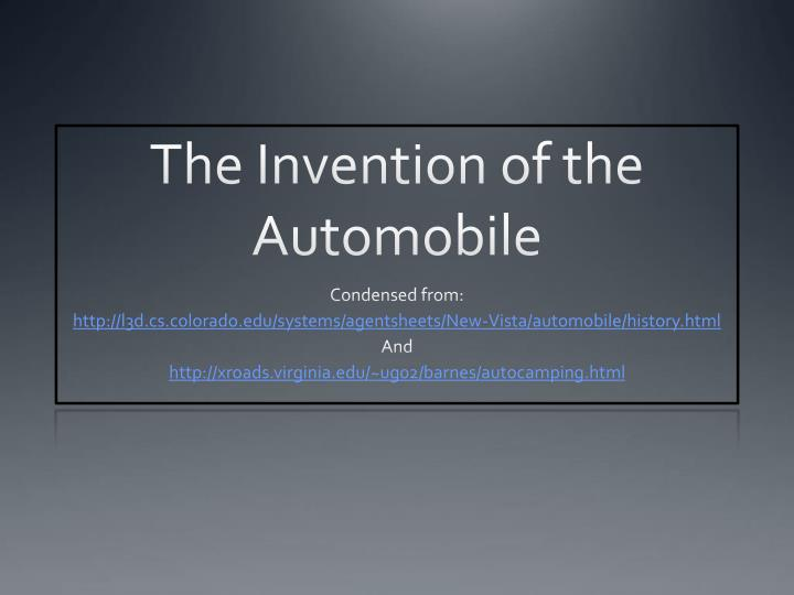 the invention of the automobile n.